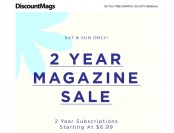 DiscountMags 2-Yr Magazine Subscription Sale, 75+ Titles