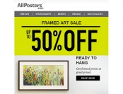 Allposters Framed Art Sale - Up to 50% off