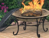 $71 off CobraCo Round Cast Iron Brick Finish Fire Pit