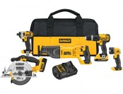 $100 off DeWalt DCK530DM2 20V Lithium-Ion Cordless 5-Tool Kit