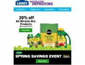 Extra 20% off All Miracle-Gro Products at Lowe's