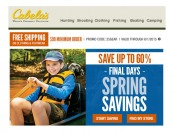 Cabela's Spring Savings Deals - Up to 60% Off Fishing, Camping & More