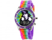 86% off Justin Bieber Kids' Digital Multi-Colored Silicone Strap Watch