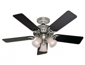 $100 off Hunter 21362 Stonington 46 in. Brushed Nickel Ceiling Fan