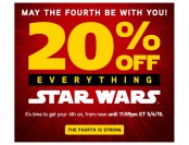 Extra 20% off Everything Star Wars at ThinkGeek