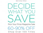 DiscountMags Magazine Sale - Up to 90% Off, 100+ Titles on Sale