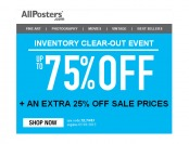 Allposters Inventory Clear-out Event - Up to 75% off