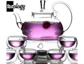 $81 off Teaology Fiore Borosilicate Blooming Teapot & Teacup Set