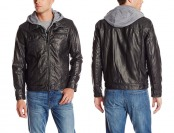 $144 off Levi's Men's Faux-Leather Trucker Jacket with Sherpa Lining