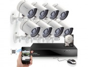 $340 off Funlux 8CH NVR 720P HD Night Vision IP Camera Kit