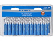 50% off Dynex AA Alkaline Batteries (48-Pack) - Blue/Silver