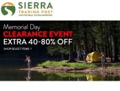 Sierra Trading Post Memorial Day Sale Event - Up to 80% off