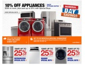 Home Depot Memmorial Day Appliances Sale - Up to 25% off