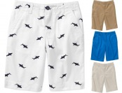 Extra 10% off Faded Glory Boys' Solid Flat Front Shorts, 8 colors