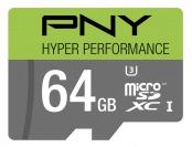 $47 off PNY 64GB microSDHC Class 10 UHS-I/U3 Memory Card - Multi