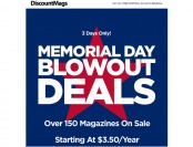 DiscountMags Memorial Day Magazine Sale, Titles $3.50/yr.