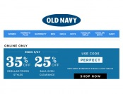 Extra 35% off Regular Priced Styles, 25% of Sale Styles at Old navy