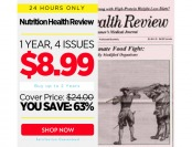 $15 off Nutrition Health Review Magazine, $8.99 / 4 Issues
