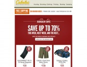 Cabela's Bargain Cave Deals - Up to 70% off