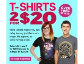 ThinkGeek 2 for $20 T-Shirt Sale, 180+ Styles