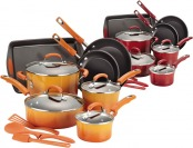 $191 off Rachael Ray Hard Enamel Nonstick 14-Pc Cookware Set