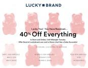 48-Hours Only! Save an Extra 40% off Everything at Lucky Brand