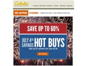 Cabela's 4th of July Sale - UP to 60% Off