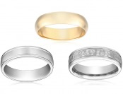 Up to 70% off Wedding Bands for Women and Men, 28 items