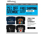 25% off Everything at Allposters + Free Shipping w/ $35 Purchase