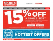 Save 15% off Bikes, Boats, Fitness, Golf & Basketball Equipment
