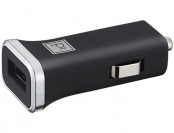 77% off Platinum USB Vehicle Charger - Black/Chrome