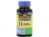 82% off Nature Made Vitamin D3 2000 I.U., Liquid Softgels, 90-Count