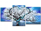 "96% off Art Wall 3-Pc ""Origin of Life in Blue"" Gallery Wrapped Canvas"