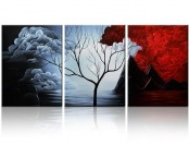 "$95 off Santin Art ""The Cloud Tree"" Paintings on Canvas, 3 Pieces"