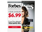 $97 off Forbes Magazine Subscription, $6.99 / 24 Issues