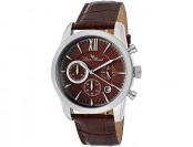 93% off Lucien Piccard Mulhacen Men's Brown Leather Watch