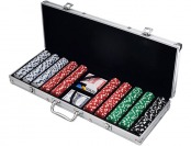 72% off Trademark Poker 500 Dice Style Casino Weight Poker Chip Set