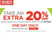 Sports Authority Flash Sale - 20% Off Back to School Items