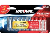 $5 off 20-Pack Rayovac AA Batteries 815-16B4TBLFU