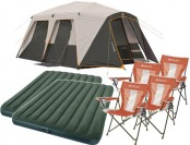 33% off Bushnell Shield 9 Person Cabin Tent + 2 Beds & 4 Chairs