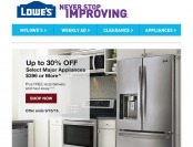 Lowe's Labor Day Sale - Up to 30% off Major Appliances $396+