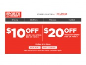 Sports Authority Flash Sale - 20% Off Your Purchase off $50+