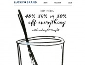 Lucky Brand Flash Sale - 40%, 35%, or 30% off Everything
