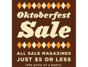 DiscountMags Oktoberfest Sale - Subscriptions $5 or Less