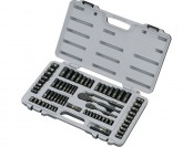 55% off Stanley Black Chrome and Laser Etched Socket Set, 69-Pc