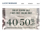 Lucky Brand End of Season Sale - Up to 50% Off