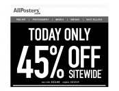 Extra 45% off Everything at Allposters.com