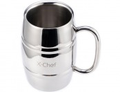 81% off X-Chef 16Oz Double Wall Stainless Steel Beer/Coffee Mug