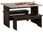 $160 off Trestle Table Cinnamon Cherry Finish