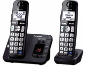43% off Panasonic KX-TGE232B Cordless Phone, 2 Handsets